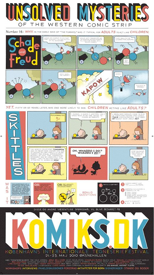 Chris Wares plakat til Komiks.dk 2010