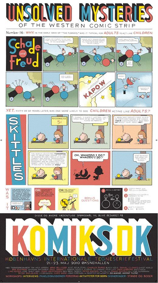 Chris Wares plakat til Komiks.dk 2010
